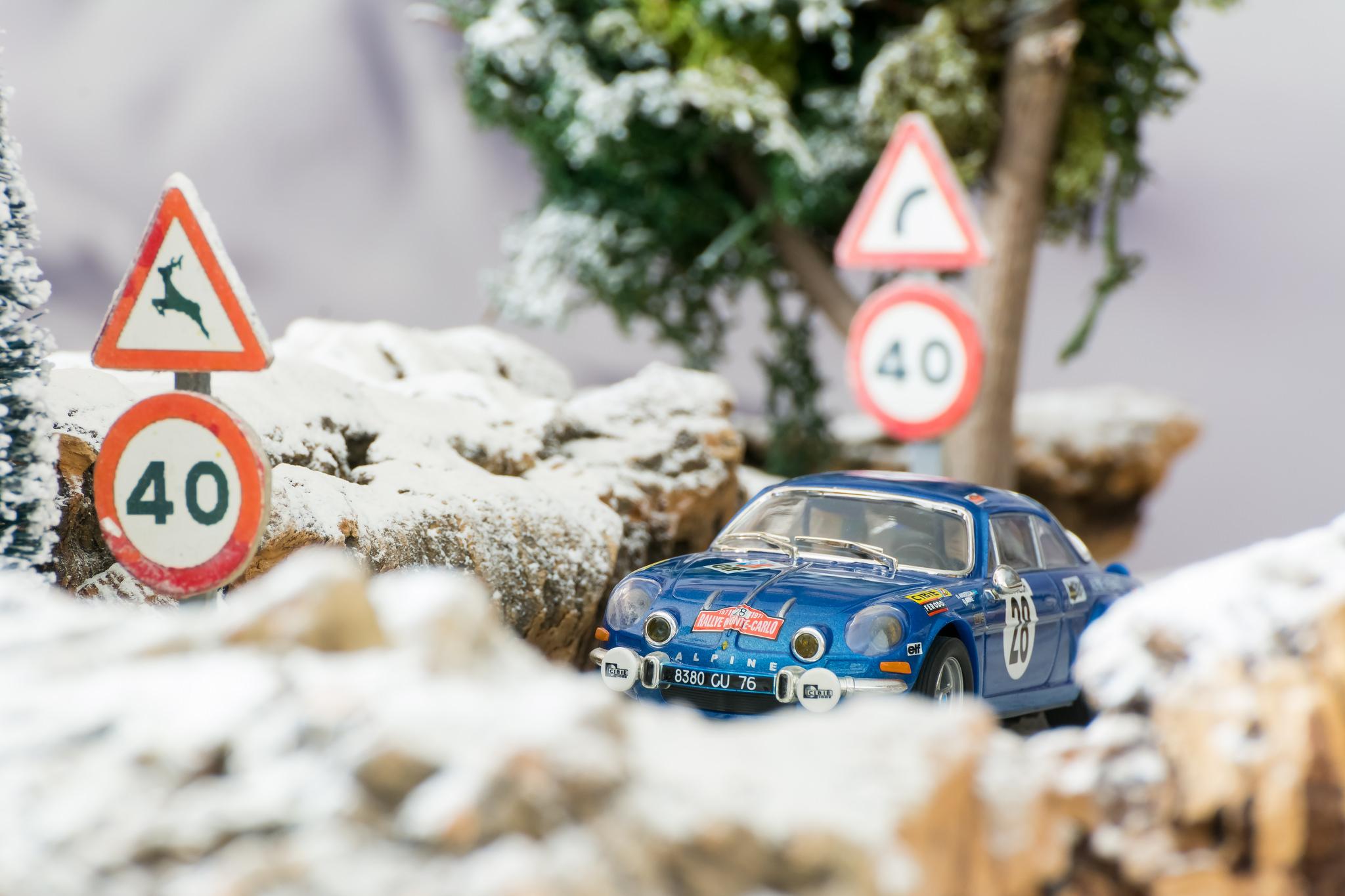 Historias del Rally. Ove Andersson. Alpine A110 Montecarlo 1971 SCX